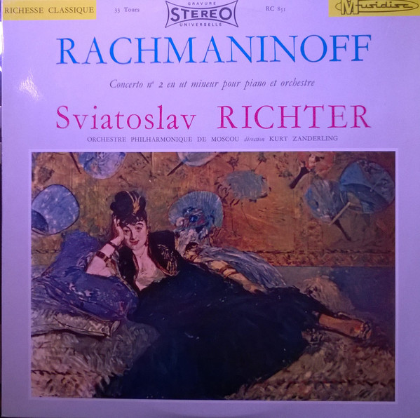 Sergei Vasilyevich Rachmaninoff, Sviatoslav Richter, Moscow Philharmonic Orchestra, Kurt Sanderling - Concerto N° 2 En Ut Mineur Pour Piano Et Orchestre cover of release