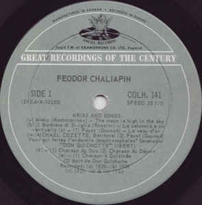 Feodor Chaliapin - Arias And Songs