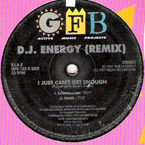 DJ Energy - I Just Can't Get Enough (Remix)