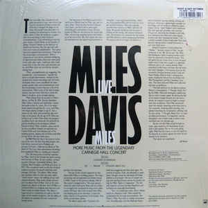 Miles Davis - Live Miles: More Music From The Legendary Carnegie Hall Concert