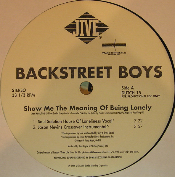 Backstreet boys - show me the meaning of being lonely 3:56