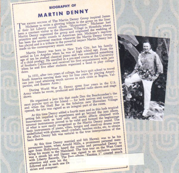 Martin Denny - The Best Of Martin Denny's Exotica cover of release