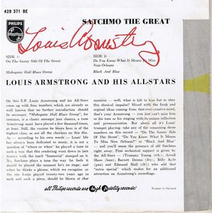 Louis Armstrong And His All-Stars - Satchmo The Great
