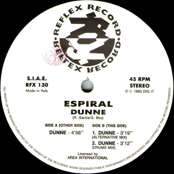 Espiral - Dunne cover of release