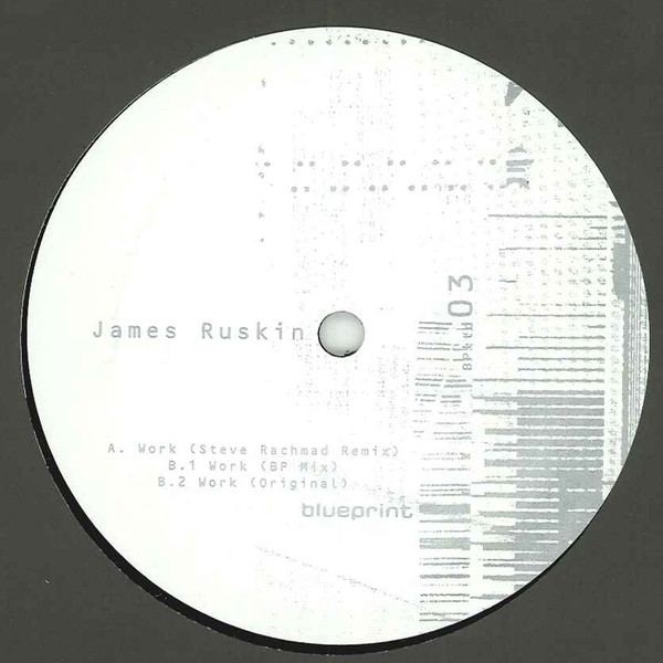 James Ruskin - Work cover of release