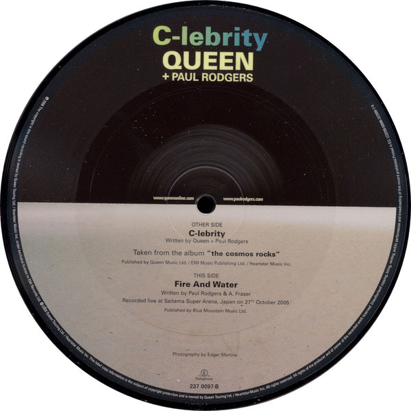 Queen + Paul Rodgers - C-lebrity cover of release