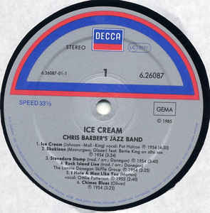 Chris Barber's Jazz Band - Ice Cream
