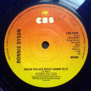 Ronnie Dyson - When You Get Right Down To It