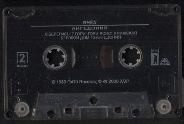 Янка - Ангедония cover of release