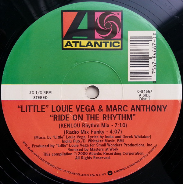 Louie Vega, Marc Anthony - Ride On The Rhythm / Keep It Comin' Now cover of release