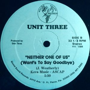 Unit Three - Let's Boggie Tonight / Neither One Of Us (Want's To Say Goodbye)