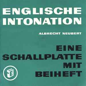 Albrecht Neubert - Englische Intonation (English Intonation) cover of release