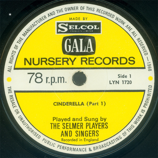 Selmer Players And Singers, The - Cinderella cover of release