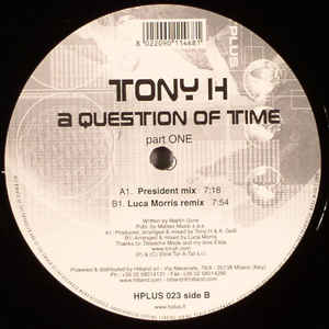 Tony H - A Question Of Time (Part One)