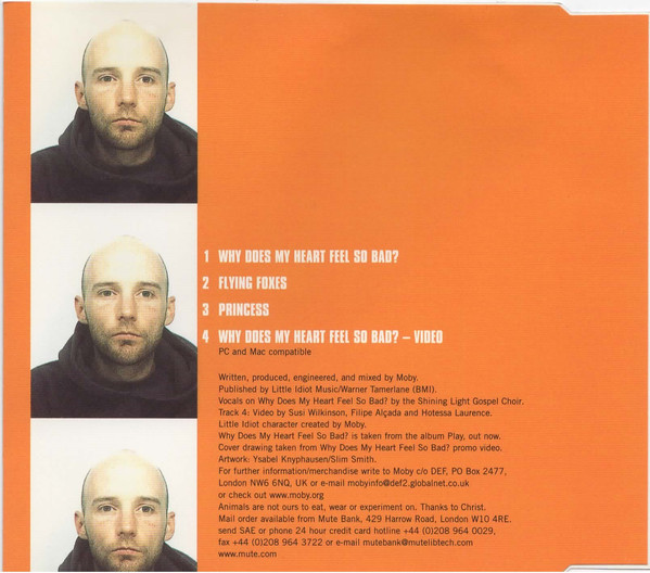 Moby - Why Does My Heart Feel So Bad? cover of release
