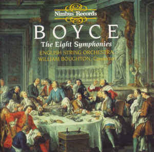 William Boyce, English String Orchestra, William Boughton - The Eight Symphonies cover of release