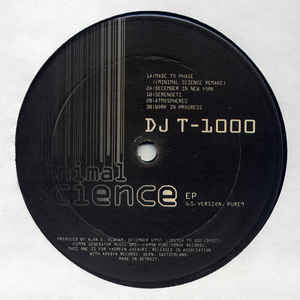 DJ T-1000 - Minimal Science EP (U.S. Version.)