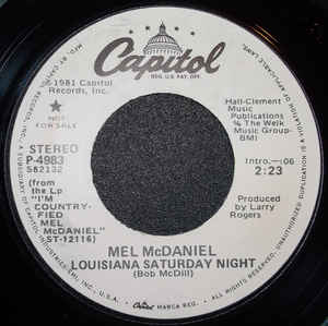 Mel McDaniel - Louisiana Saturday Night