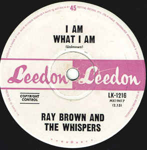 Ray Brown & The Whispers - I Am What I Am