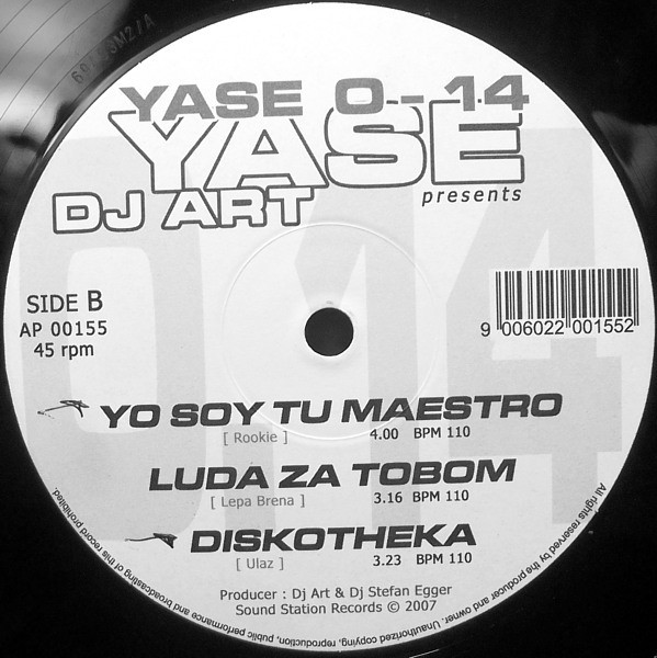 Yase, DJ Art (4) - O-14 cover of release