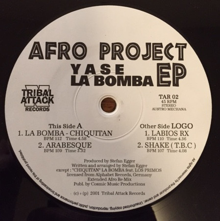 Yase, La Bomba - Afro Project EP cover of release