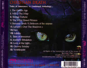 Christian Death - Tales Of Innocence, A Continued Anthology ...