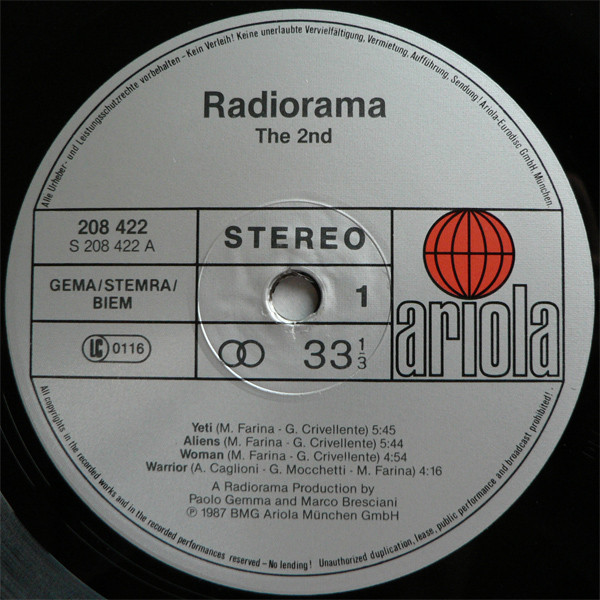 Radiorama - The Second cover of release