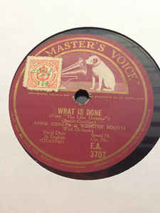 Webster Booth - What Is Done / Without Your Love