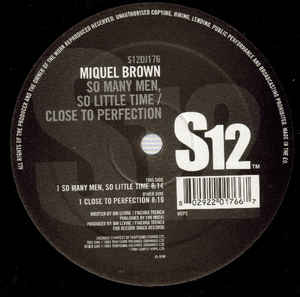 Miquel Brown - So Many Men So Little Time / Close To Perfection
