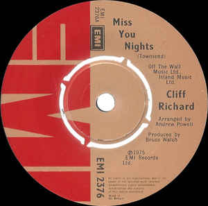 Cliff Richard - Miss You Nights