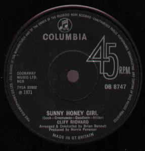 Cliff Richard - Sunny Honey Girl