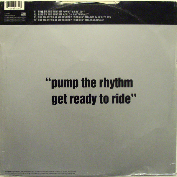 Louie Vega, Marc Anthony - Ride On The Rhythm / The Masters At Work (Keep It Comin' On) cover of release