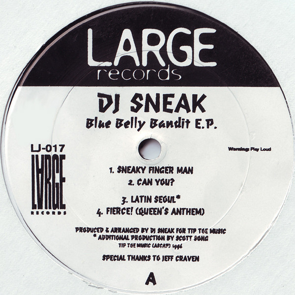 DJ Sneak - Blue Belly Bandit E.P. cover of release