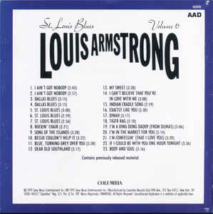 Louis Armstrong - Louis Armstrong Vol. 6: St. Louis Blues