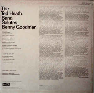 Ted Heat Band, The - The Ted Heat Band Salutes Benny Goodman