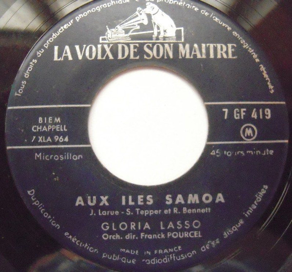 Gloria Lasso - Padre Don Jose / Aux Iles Samoa cover of release