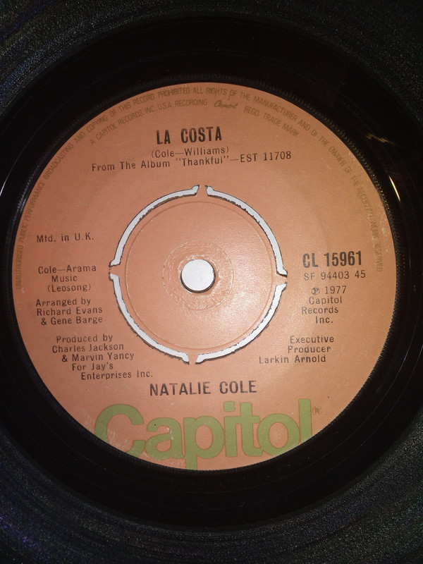 Natalie Cole - La Costa cover of release