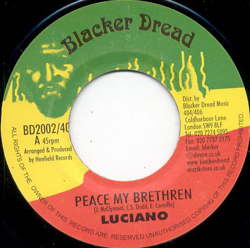 Luciano (2) - Peace My Brethren cover of release
