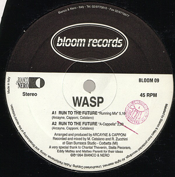 Wasp (3) - Run To The Future cover of release