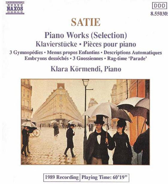 Erik Satie, Klára Körmendi - Piano Works (Selection) cover of release