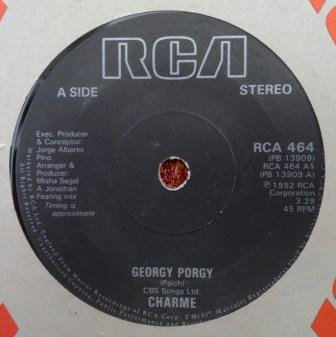 Charme (2), Hues Corporation, The - Georgy Porgy / Rock The Boat cover of release