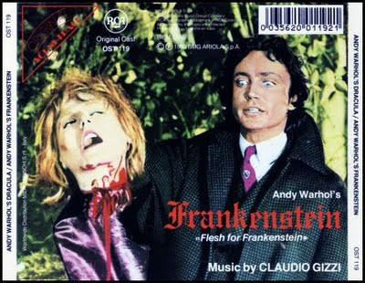 Claudio Gizzi - Andy Warhol's Dracula / Andy Warhol's Frankenstein (Original Soundtracks) cover of release