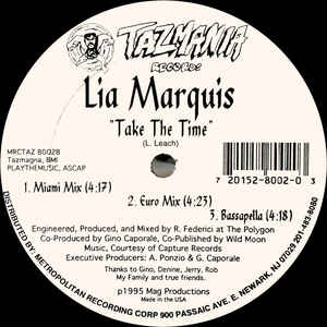 Lia Marquis - Take The Time