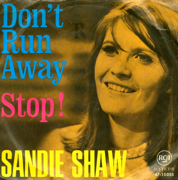 Sandie Shaw - Stop! / Don't Run Away cover of release