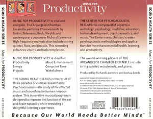 Arcangelos Chamber Ensemble, The - Music For Productivity cover of release