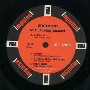 Milt Jackson Quartet, The - Statements