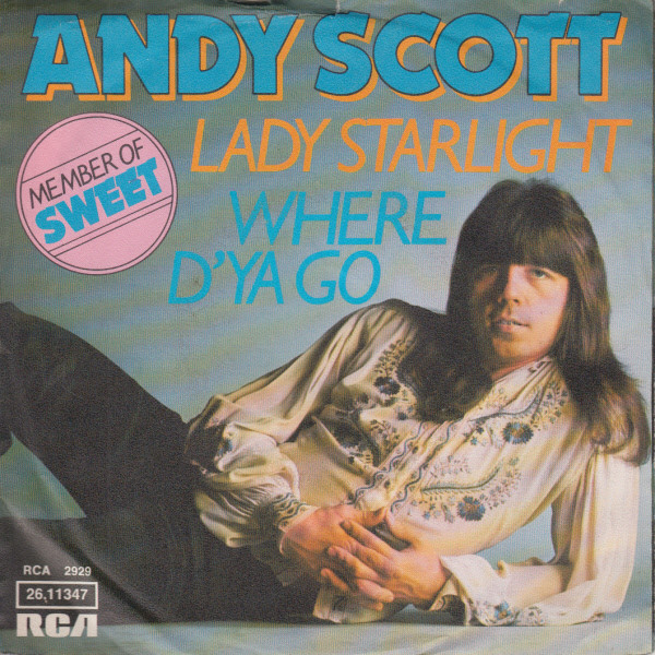 Andy Scott (2) - Where D'Ya Go / Lady Starlight cover of release