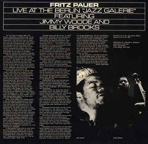 Fritz Pauer - Live At The Berlin