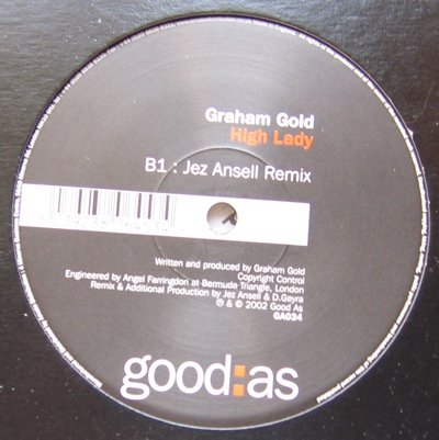 Graham Gold - High Lady cover of release