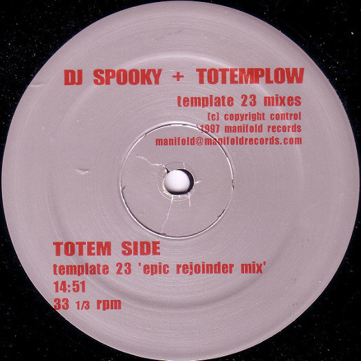 DJ Spooky, Totemplow - Template 23 Mixes cover of release